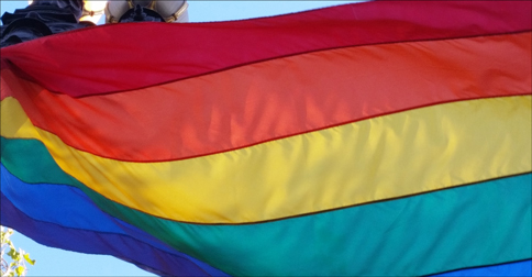 Pride Flag in the wind